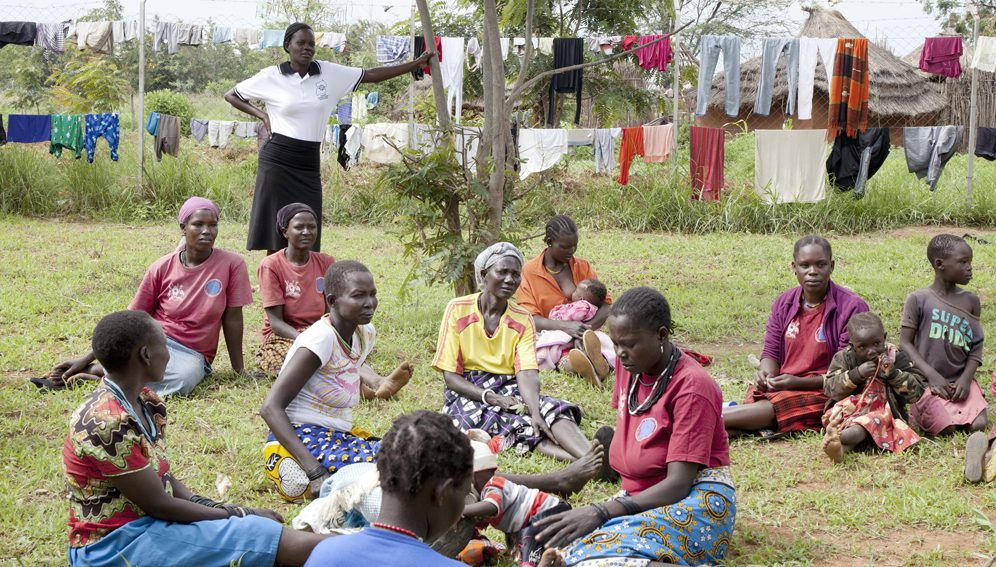 """Lorengechora, Karamoja (Uganda). The """"peer mothers"""" are a group of local women who are committed to raise awareness in the community on maternal and child health issues."""