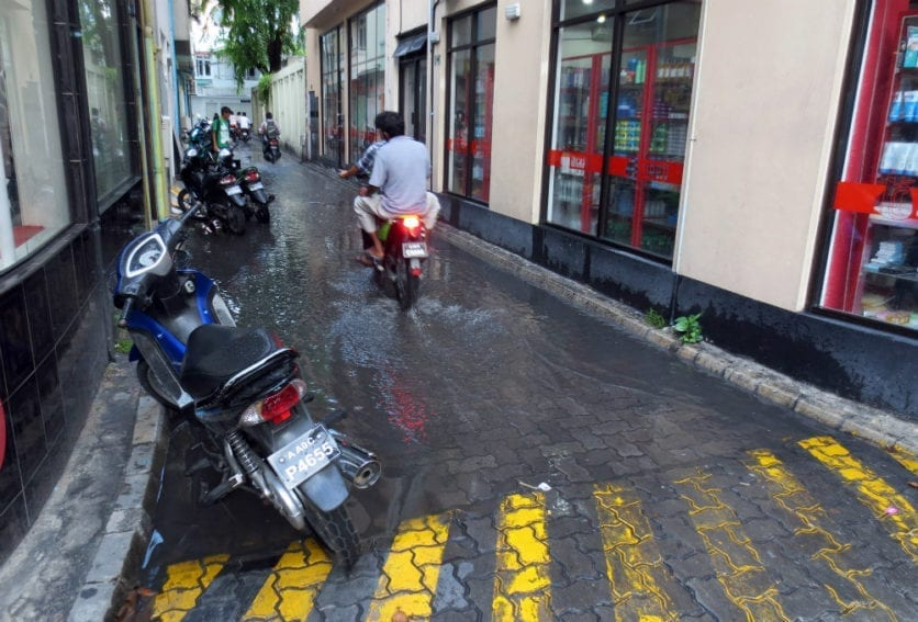A short downpour in Malé, the capital of the Maldives, can flood local streets. The drainage system is effectively at sea level, and there is little room to improve the system
