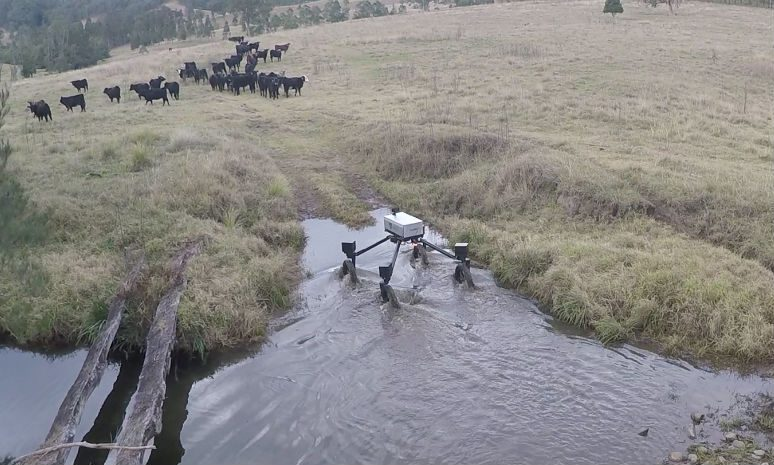 This SwagBot was designed to be put to work on cattle farms and deal with undulating and difficult terrain. Sensors on the robot were dedicated to monitoring the health of individual animals and tracking the movements of the herd, allowing cattle farmers to keep an eye on their animals from afar.