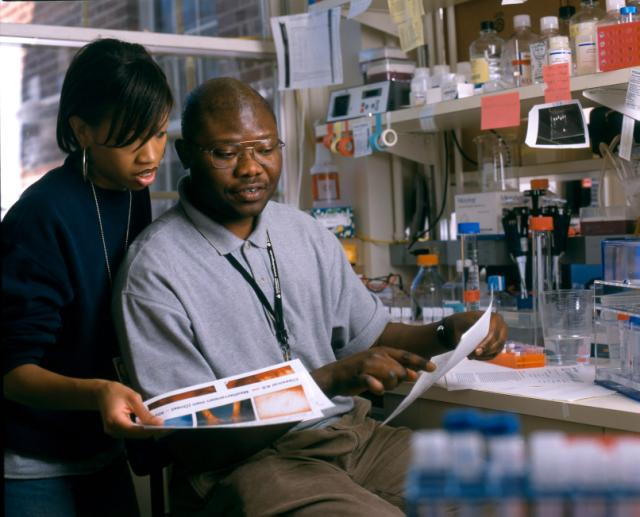 Health and genes scientists in a Lab