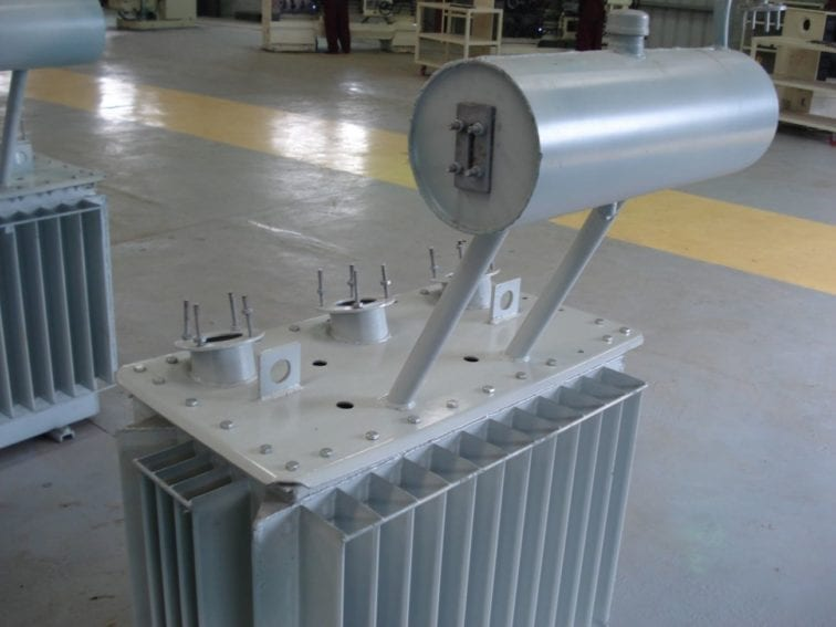 The raw body of the transformer is sprayed and prepared for wiring. The factory can produce 10,000 transformers a year. Before 2010, Ethiopia imported all its transformers from India