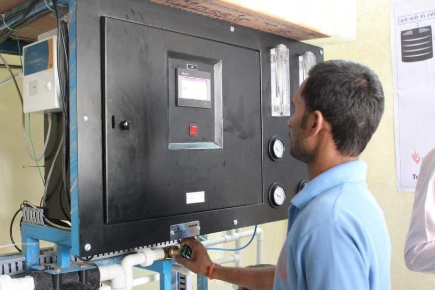 The company effectively builds scaled-up versions of household filtering units from commercially available components customised for the conditions in each location. What it has added, and patented, is a remote monitoring unit that sends information about variables such as water quality to the operator at the plant