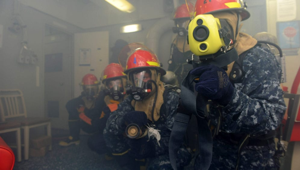 Robot training firefighters