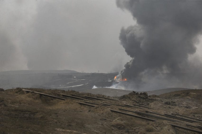 This is a photo of Alas oilfields in Saladin Governorate taken in 2017