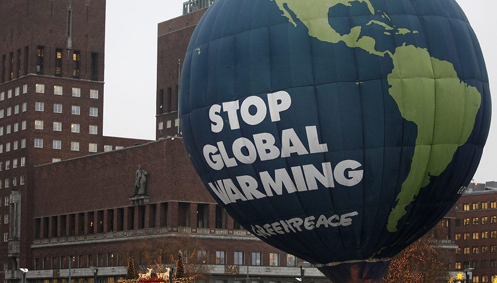Balloon with Stop global warming - Main