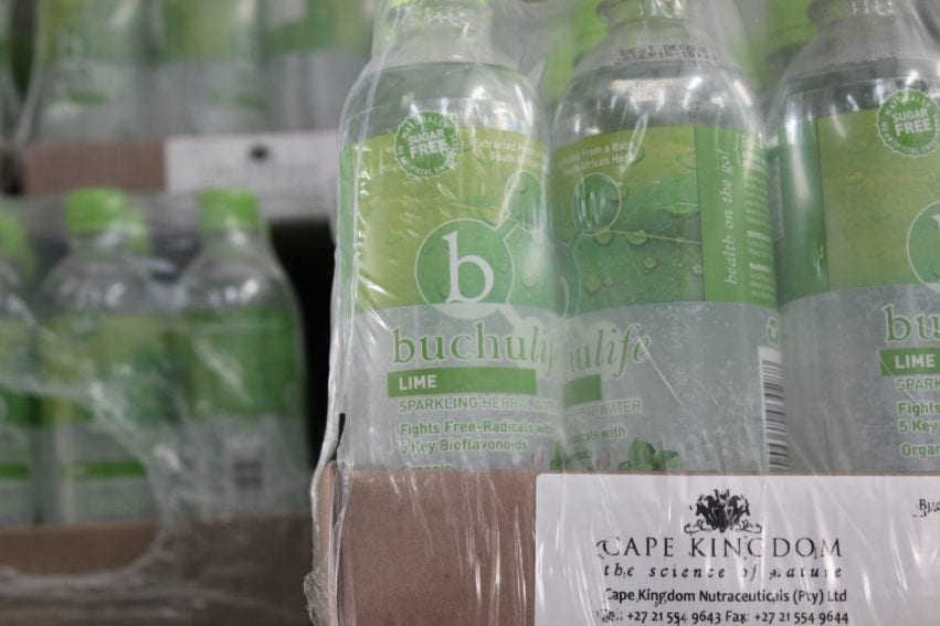 Flavoured water infused with buchu — the company's first product. Stander learned about the healing properties of the plant from his mother, who used it to manage her arthritis. San elders told the company about its traditional use in treating digestive and urinary tract problems