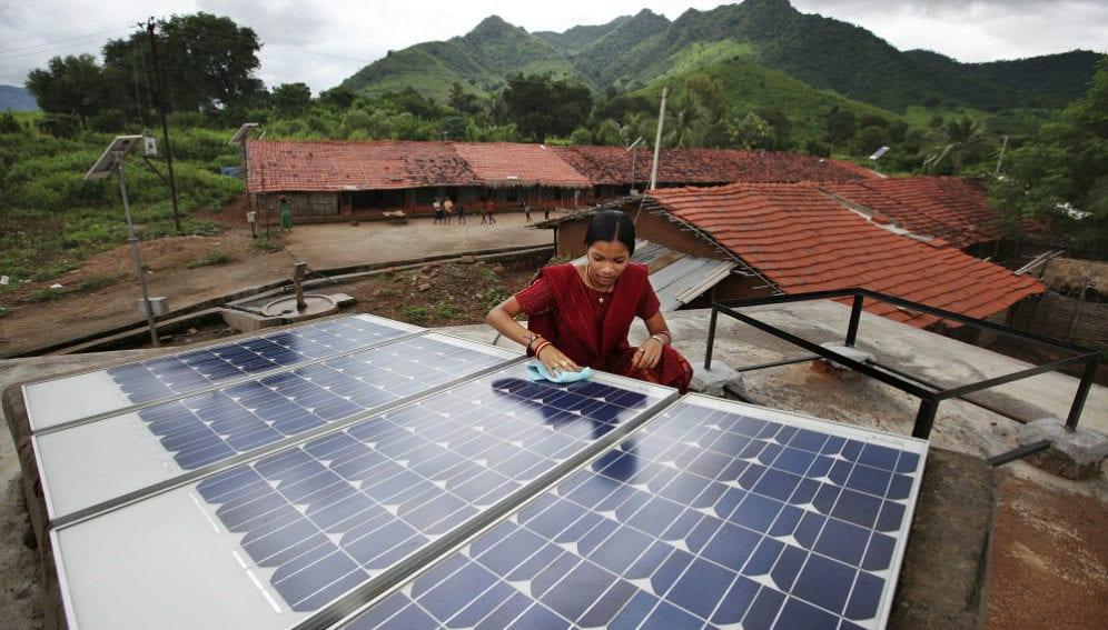 Diwan tends to maiantenance works in the solar village