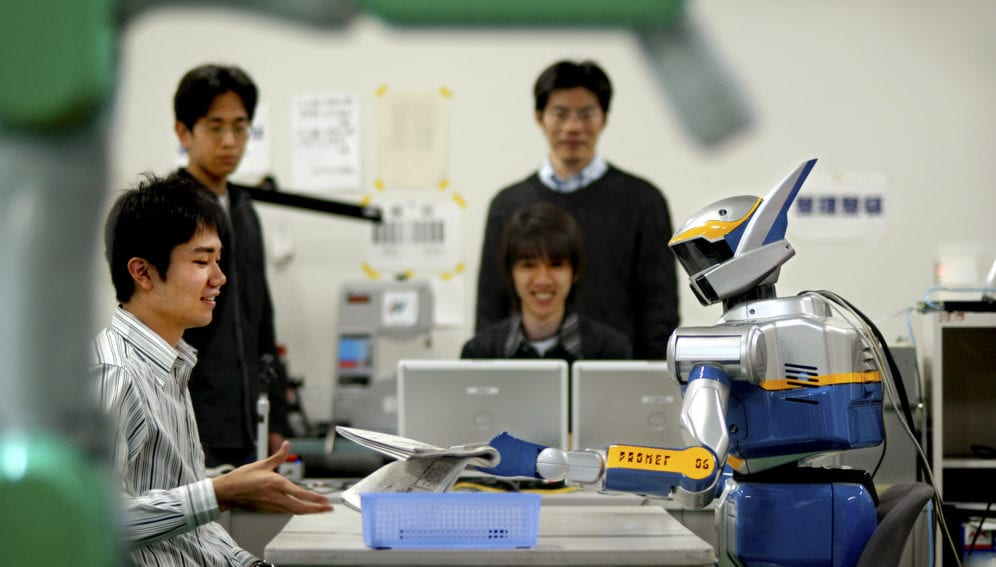 japanese students work on robot_panos