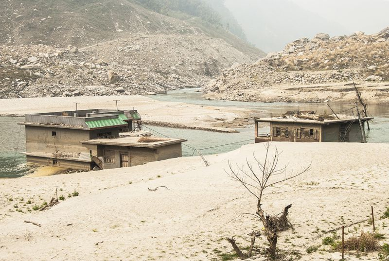 The remnants of a gigantic landslide, which killed 156 people and buried more than 100 houses in the Nepalese village of Jure in August 2014, are still visible. Nepal's landslide problems, which increasingly plague the nation, have dramatically worsened after the Gorkha earthquake a year ago