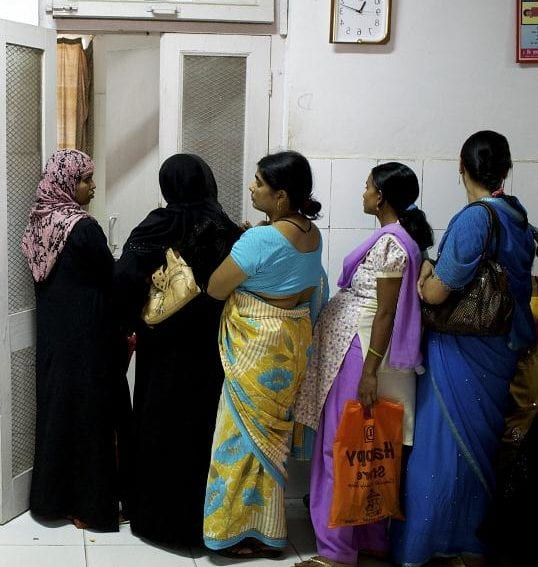 queue of pregnant women