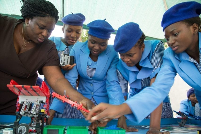 The First Lego League challenge involves technical skills as well as creativity. As the robot takes shape, the girls learn to carefully follow instructions while also making their creation unique to impress the judges