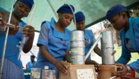 Nigerian girls build robots to tackle waste
