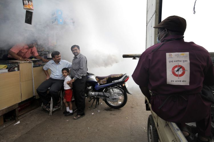 Street fumigation in India