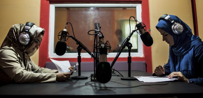 Women broadcast at Herat National Radio