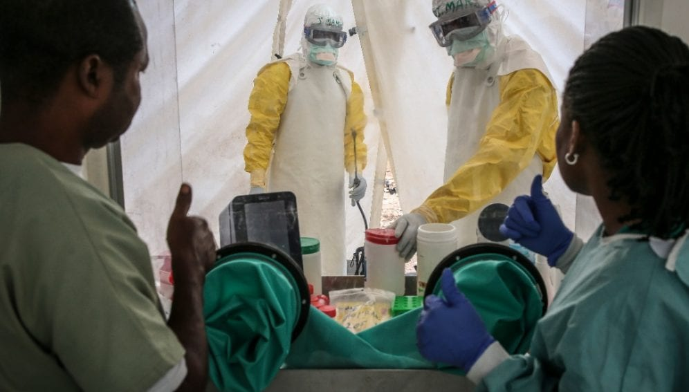 Ebola fighters in DRC