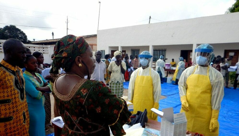 Ebola workers in Guinaa