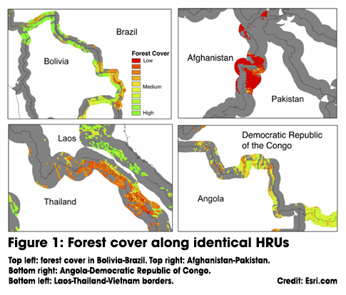 Forest cover HRUs png