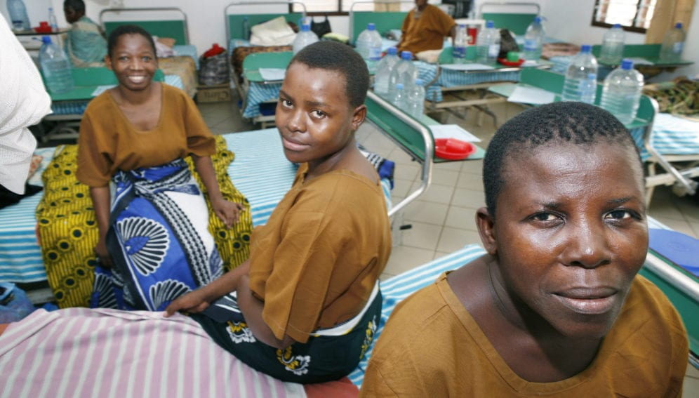 Mothers in an hospital
