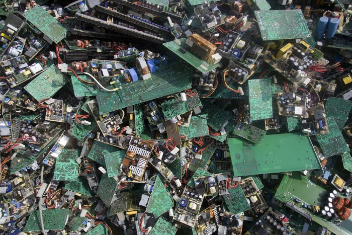 A pile of electronic trash