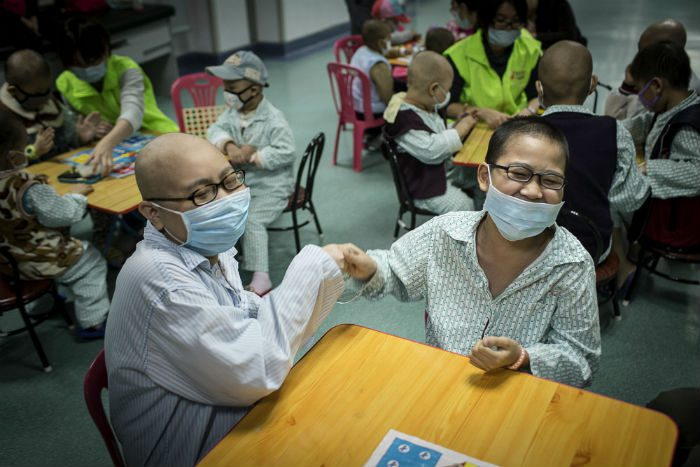 Children being treated for cancer
