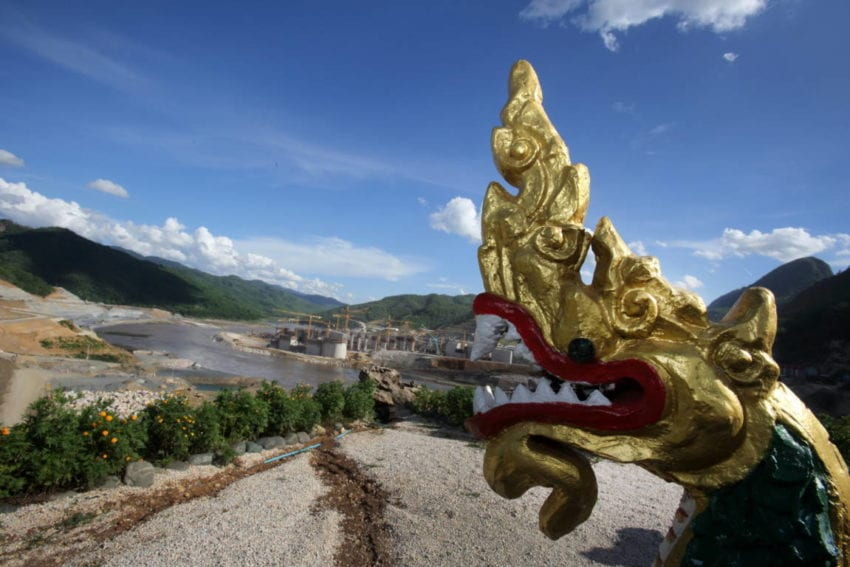 The project's Thai and Lao management have built a small shrine downstream of the dam with a river dragon, or Naga, that is meant to protect the location. The dam is being built by a Thai construction firm and financed by Thai banks