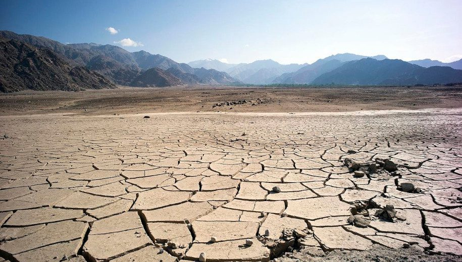 Dried land in India