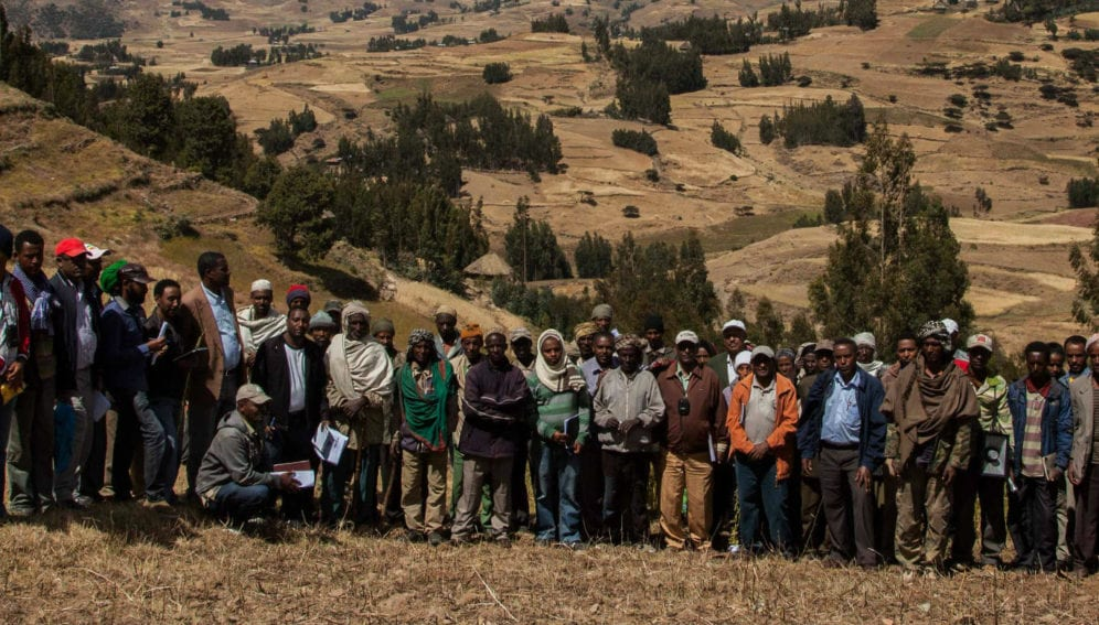 Participants of field day in the Kabe Watershed