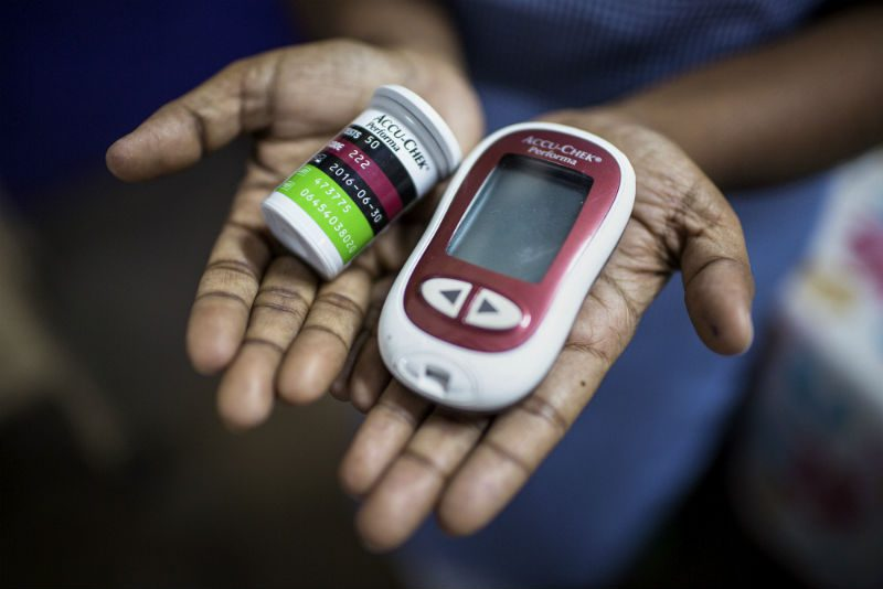 glucometer used to measure blood sugar