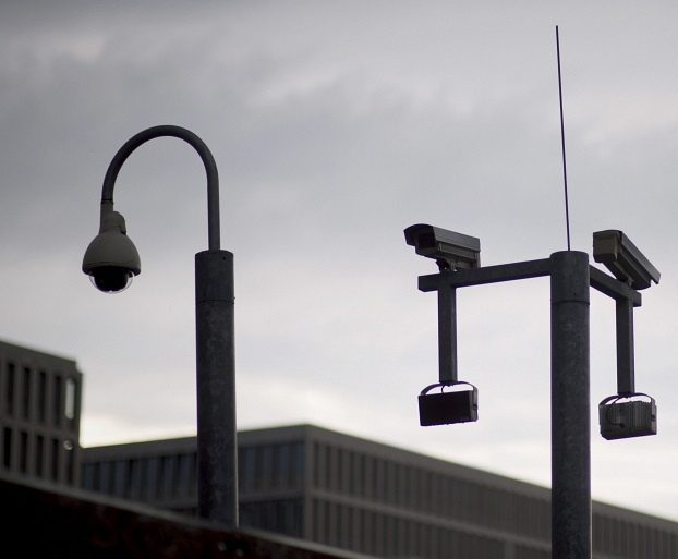 Lighting and CCTV security cameras