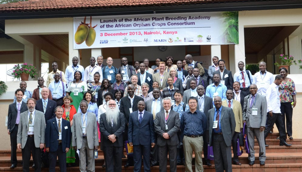 Official Launch Event - African Plant Breeding Academy of the African Orphan Crops Consortium, December 3, 2013, ICRAF Headquarters, Nairobi