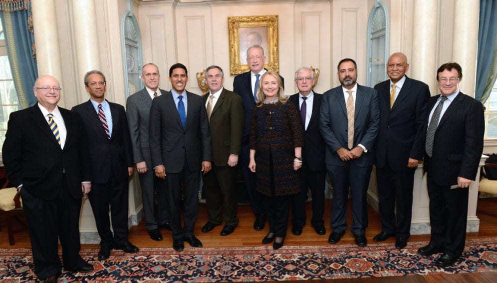 Secretary Clinton meets with university leadership from the Higher Education Solutions Network (HESN)