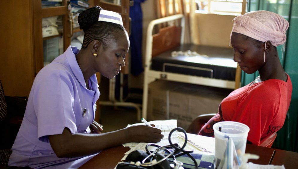 student midwife from The School of Midwifery in Masuba