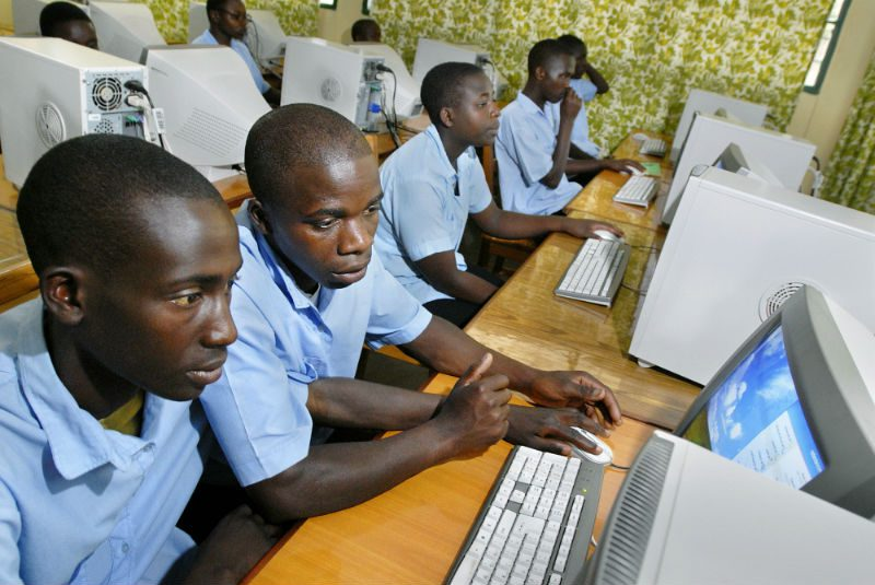 Students at the Essa Gisenyi secondary school for science education
