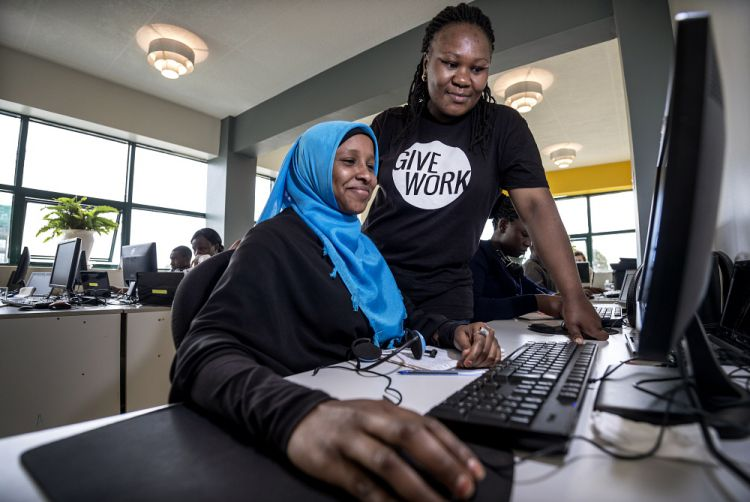 train and employ young people from disadvantaged backgrounds