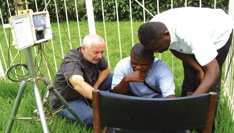 Training on technical and practical aspects of meteorological station