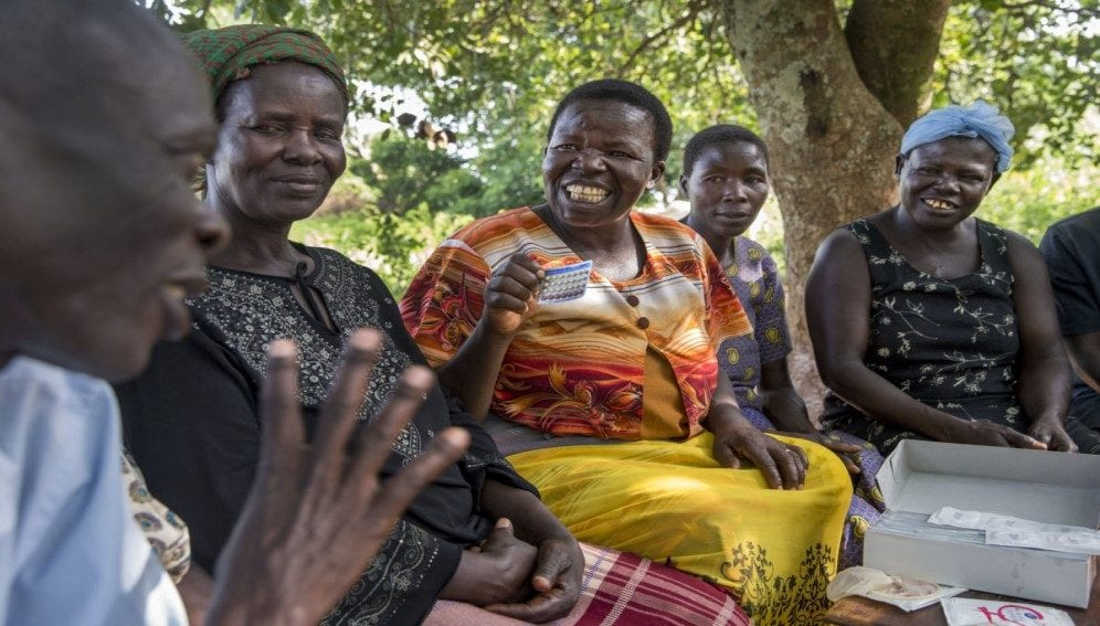 A meeting with women explaining the variety options for family planning and contraceptives