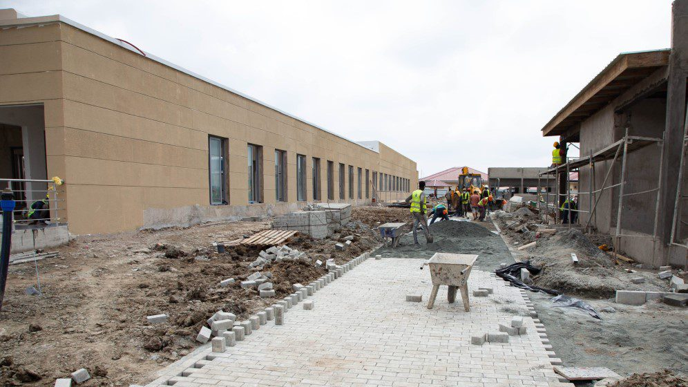 Construction of Ghana's first covid-19 centre